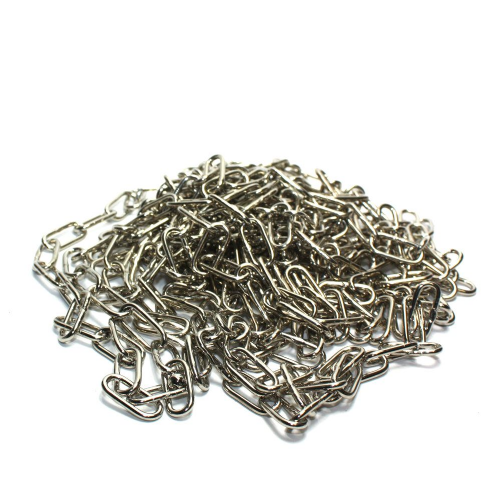 5 x Off-Cuts Chrome Plated Steel Welded Link Chain 18mm Links.